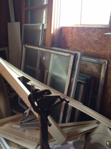 Old Windows for a display